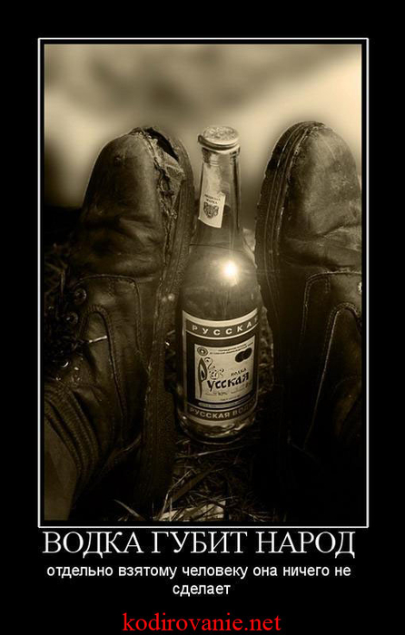 доставляет демотиватор алкоголь и душа только