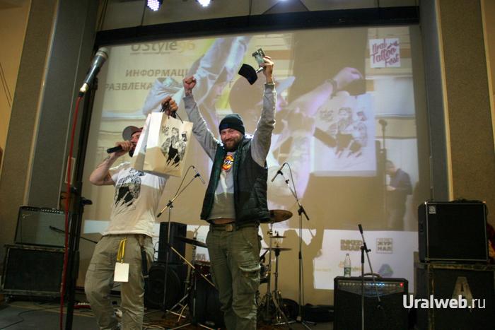 Вася Кожа с наградой Best of day второго дня