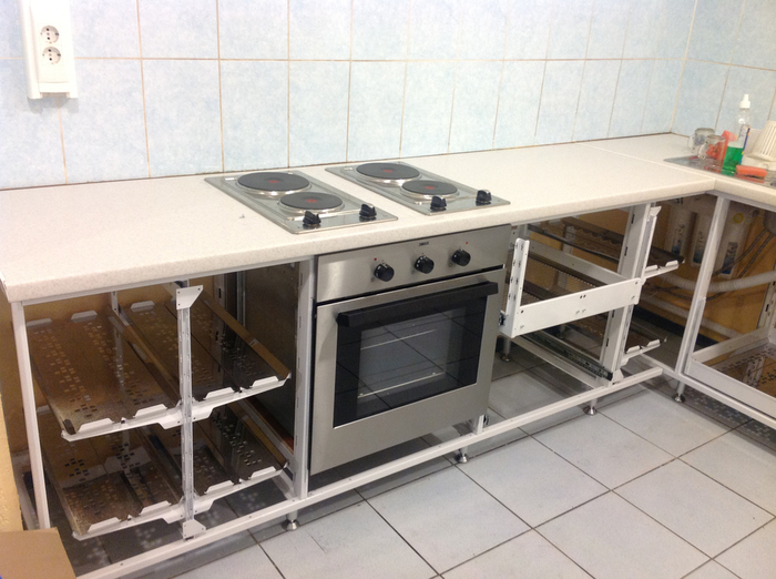 Каркасная кухня своими руками