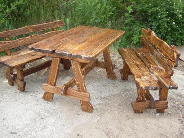 Деревянный стол на дачу своими руками фото