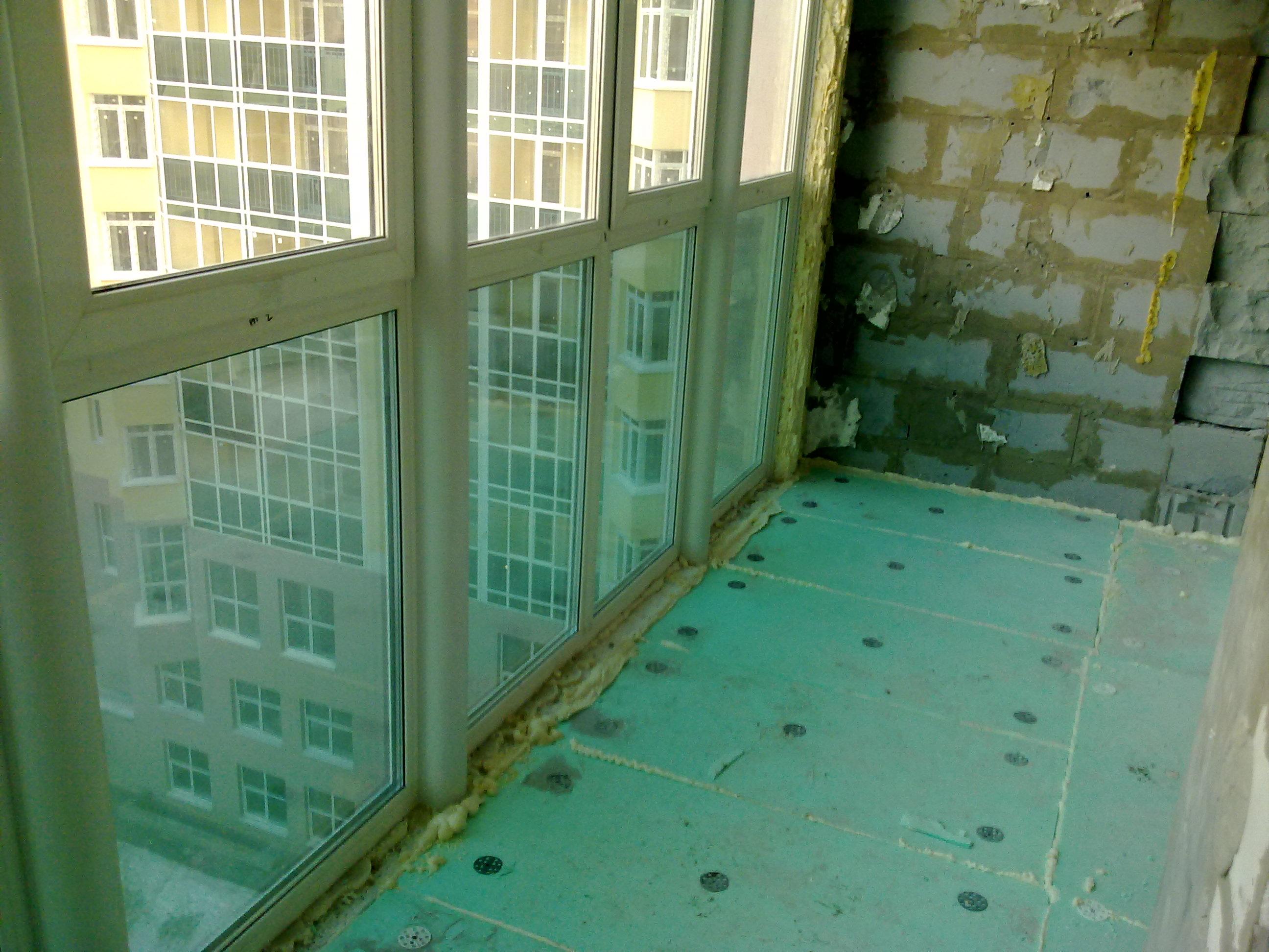 Утепление витражного балкона.