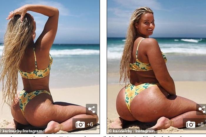 Австралийка выкладывает в Instagram фото, на которых она полнее, чем есть