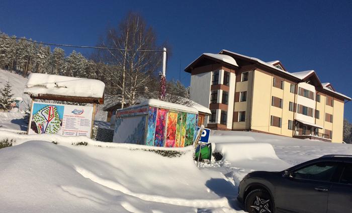 Гостиница у подножия горы Мраткино.