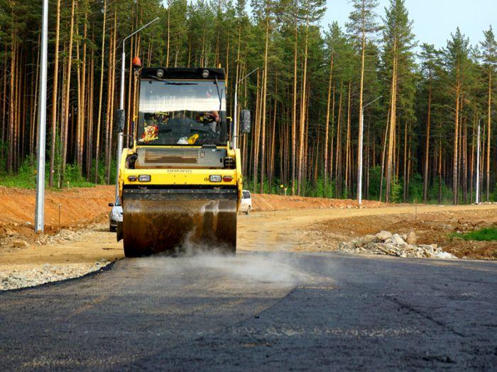 Строительство дорог в парке-поселке «Заповедник»