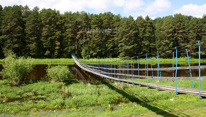 Навесной мост через Реж около села Мироново