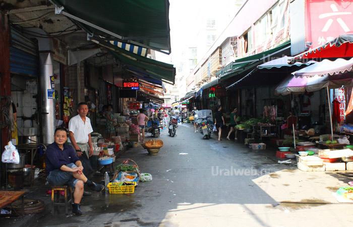 Местный рыночек в Чандэ
