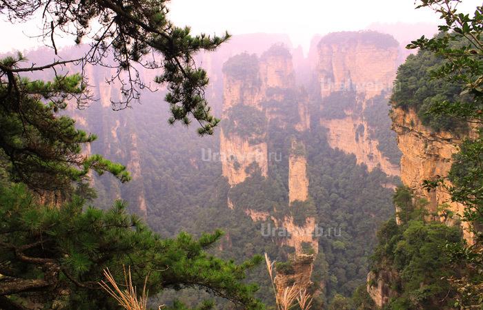 Скалы Улинъюань в национальном парке Чжанцзянце