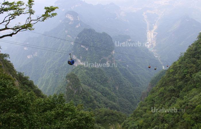 Фуникулер в национальном парке Тяньмэнь