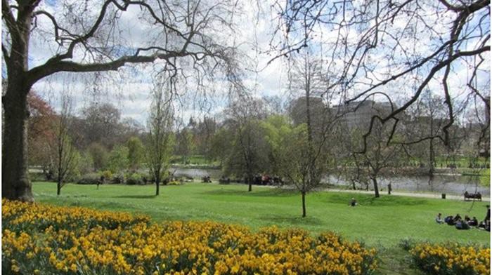 Апрель в парке Сент Джеймс