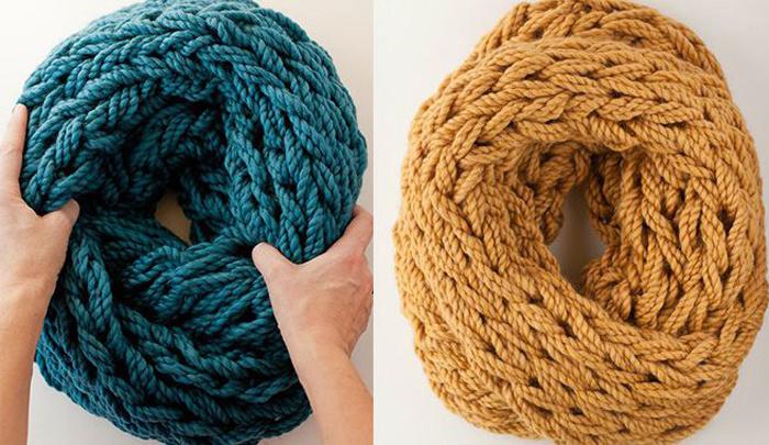 Вязаные шарфы спицами своими руками